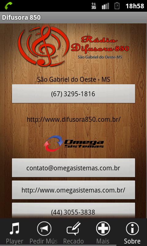 Rádio Difusora 850 - screenshot