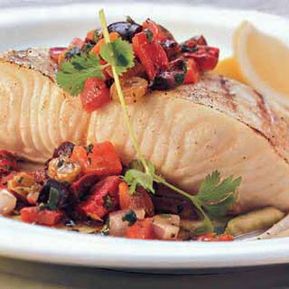Sea Bass with Moroccan Salsa