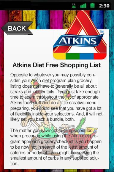 atkins diet free