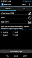 Screenshot of Fake SMS & Call Trial