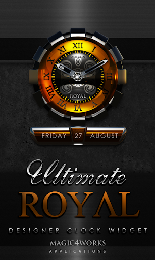 Royal designer Clock Widget