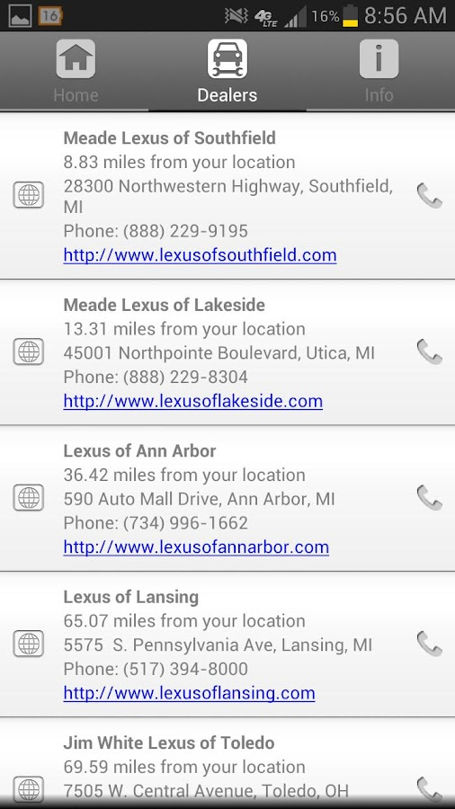 Lexus Roadside Assistance - screenshot