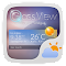 Glass View Theme GOWeather 1.2 Apk