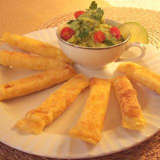 Cheese Tequeños With Guacamole