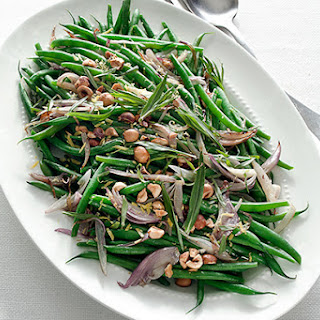 Green Beans with Shallots, Hazelnuts, and Tarragon