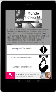 Mundo Crossfit Iniciación Fitness app screenshot for Android