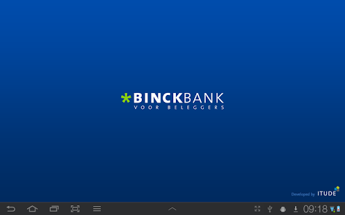 Binck beleggingsapplicatie- screenshot thumbnail