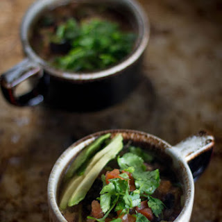 5-ingredient Black Bean and Salsa Soup