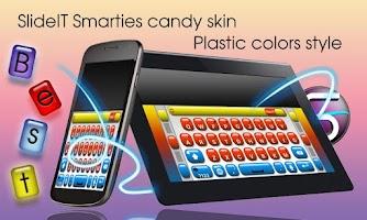 Screenshot of SlideIT Smarties Candy Skin