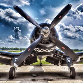 WWII F4U-4 B Corsair by Jason Arand - Transportation Airplanes