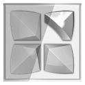 Next Launcher 3D Theme Stun-BW icon