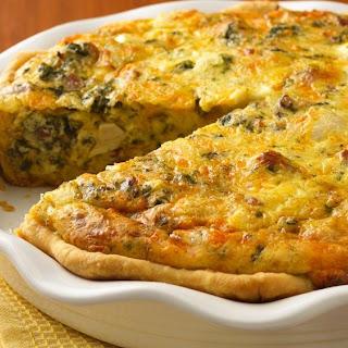 Chicken-Asiago-Spinach Quiche.
