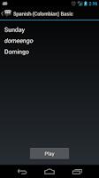 Screenshot of Spanish (Colombia) Basic