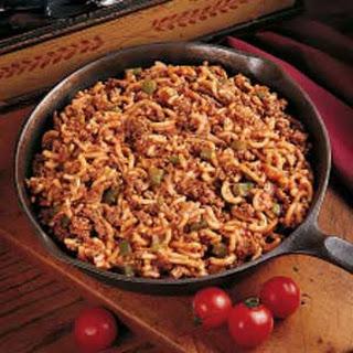 Skillet Beef and Macaroni.