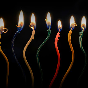 Birthday candles by Jeremy Mendoza - Artistic Objects Other Objects ( birthday, birthdaycandles, candles, light, fire, , mood factory, color, lighting, moods, colorful, bulbs, mood-lites )
