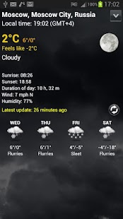 Digital clock & world weather - screenshot thumbnail