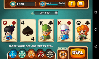 Screenshot of Video Poker - Aranea