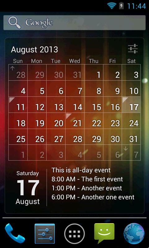 Calendar App Widget Android : Calendar widget month agenda android apps on google play