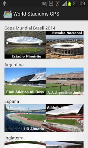 World Stadiums GPS