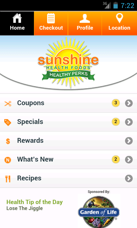 Sunshine Health Foods- screenshot