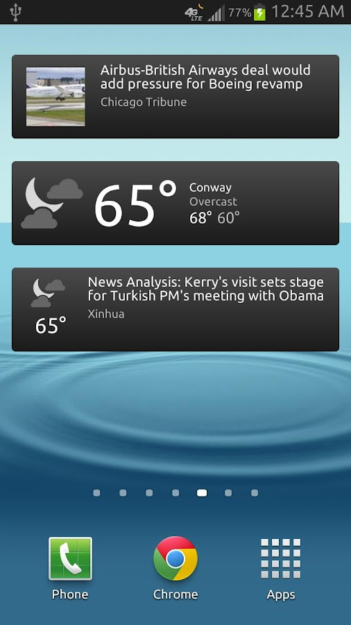 News & Weather- screenshot