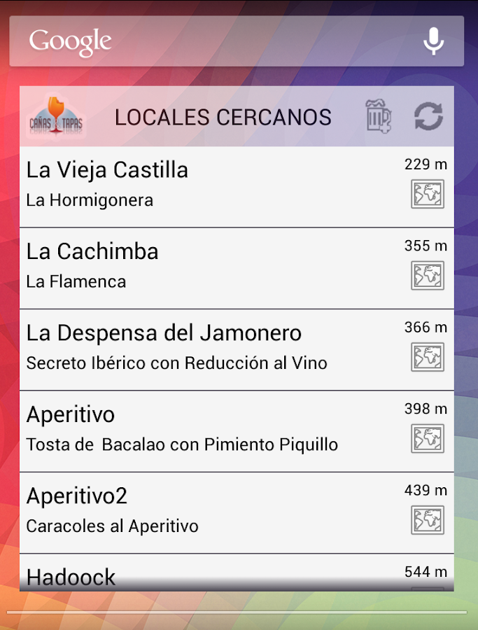Cañas & Tapas Madrid- screenshot