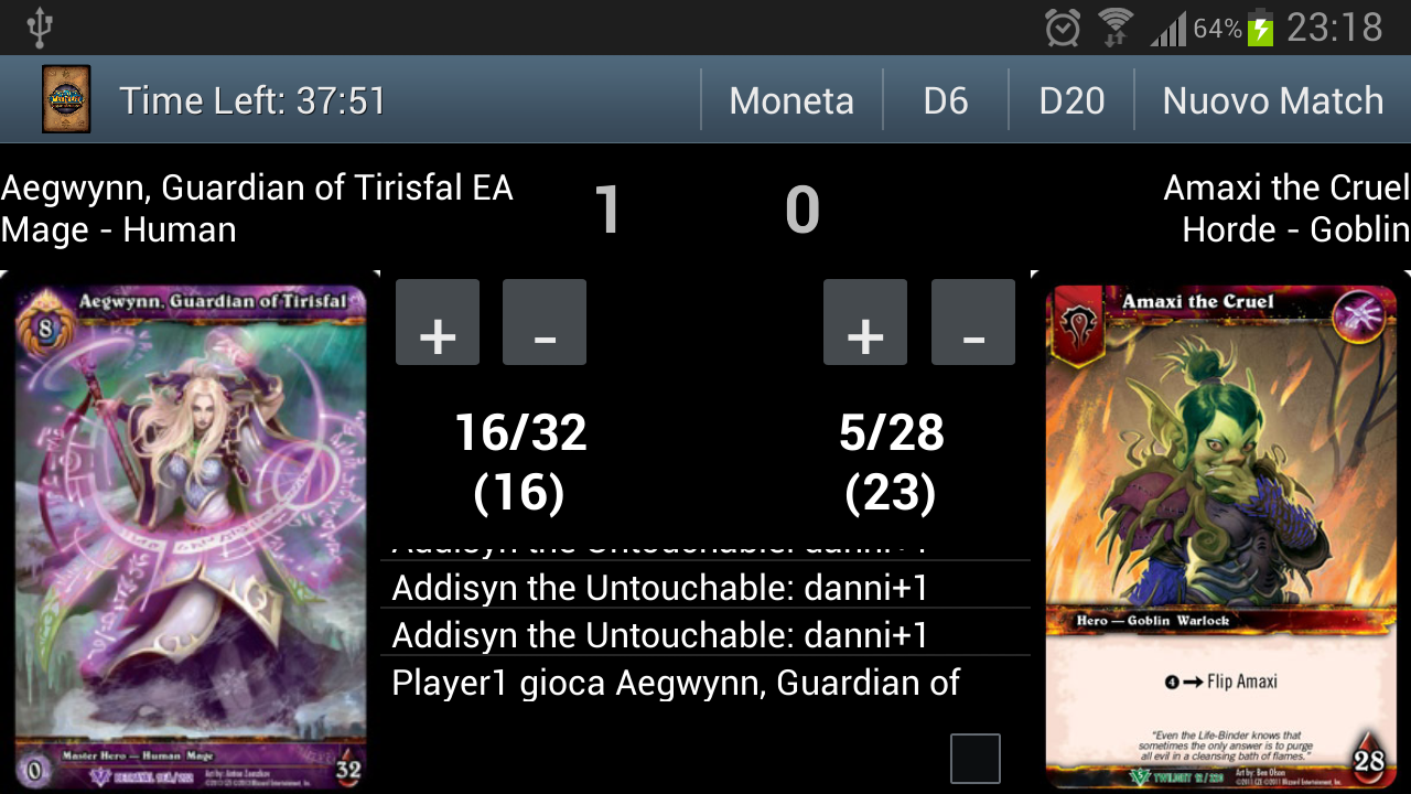WOW TCG LifeCounter - screenshot