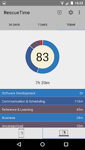RescueTime Time Management screenshot 1