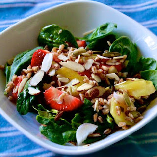 Spinach, Strawberry, Farro & Beet Salad