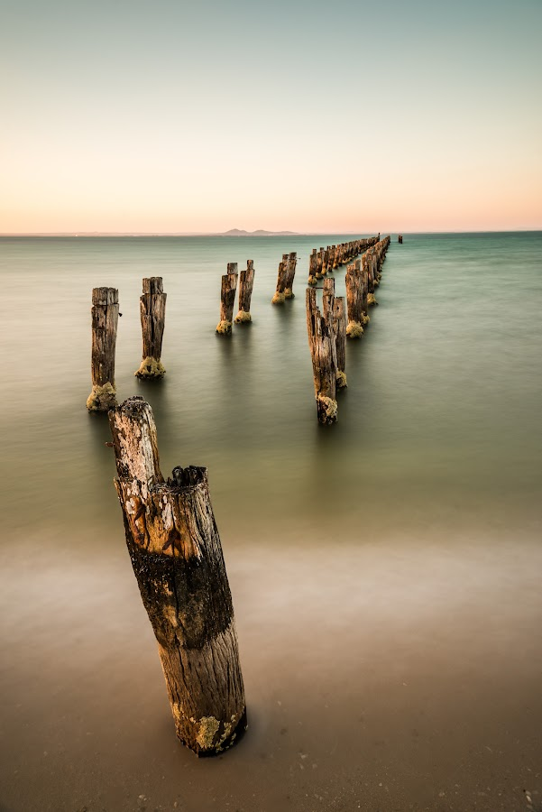 old pier by Alan Wright - Landscapes Beaches