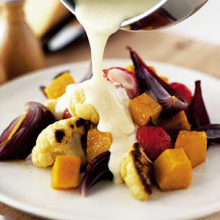 Roast Winter Veg with Fondue Sauce Recipe