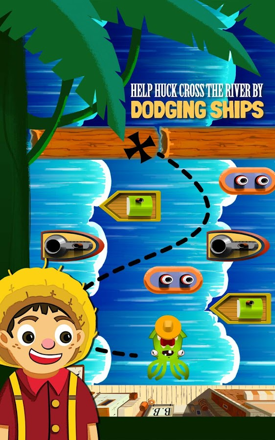 Huck's River Run (Frogger)- screenshot