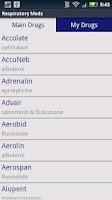 Screenshot of Respiratory Meds