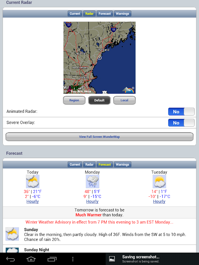 Northeast U.S. Tides & Weather- screenshot