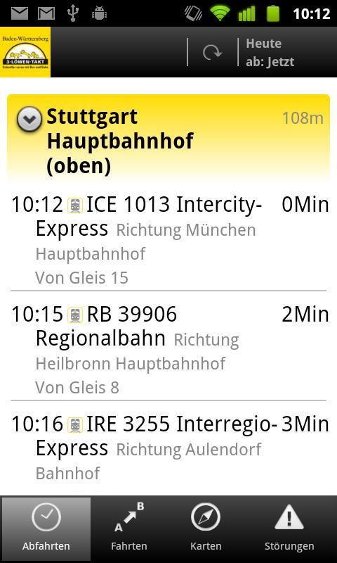 Bus&Bahn- screenshot