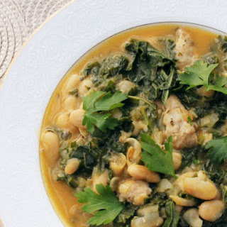 Skillet 30-Minute Kale, White Bean and Sausage Soup