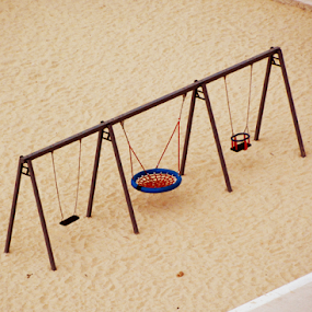 The Swing by Rita Uriel - Artistic Objects Other Objects ( sand, children, summer, beach, swing,  )