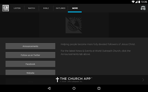 World Outreach Church- screenshot thumbnail