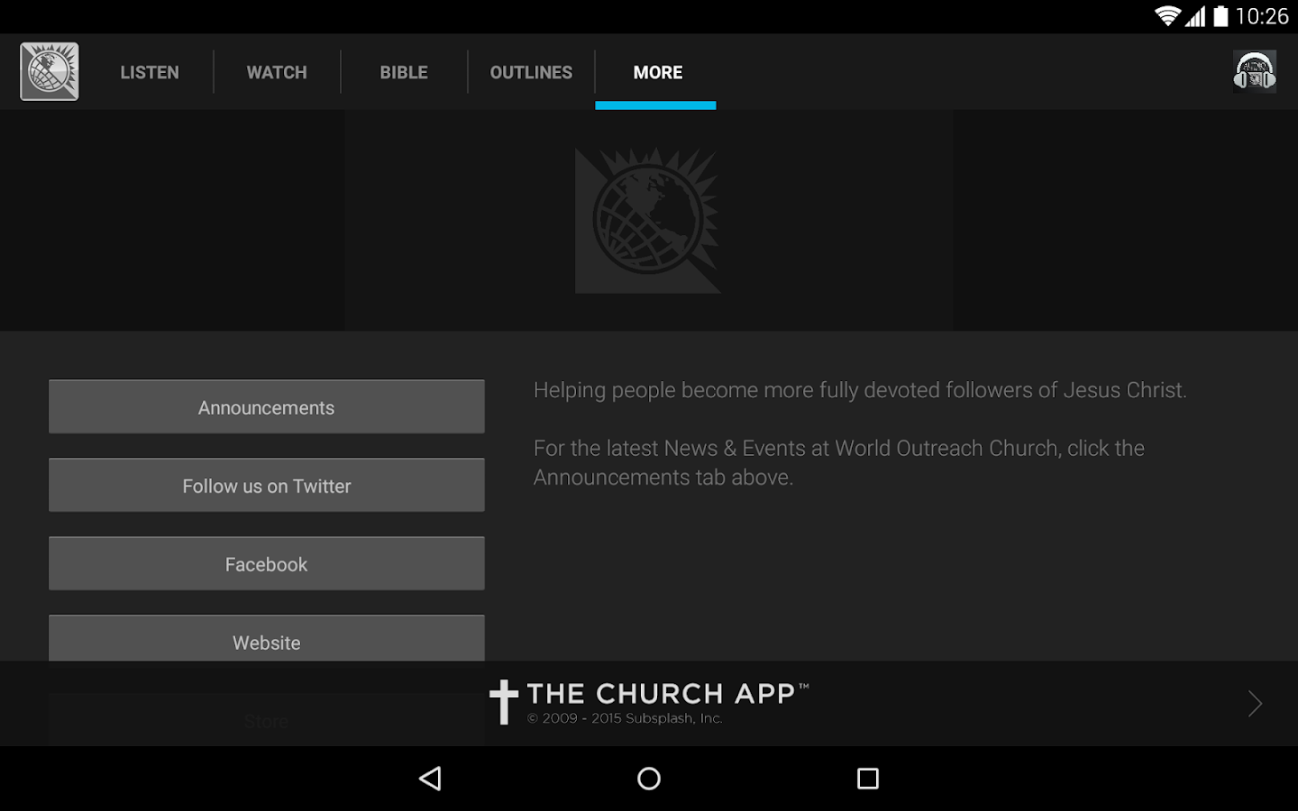World Outreach Church- screenshot