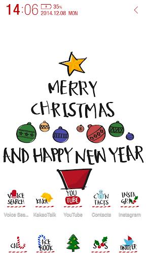 Typo Christmas atom theme