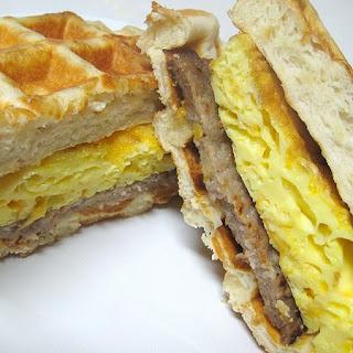 Biscuit Waffle Breakfast Sandwich
