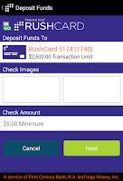 Screenshot of RushCard