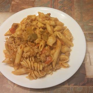 Turkey and Peppers Goulash.