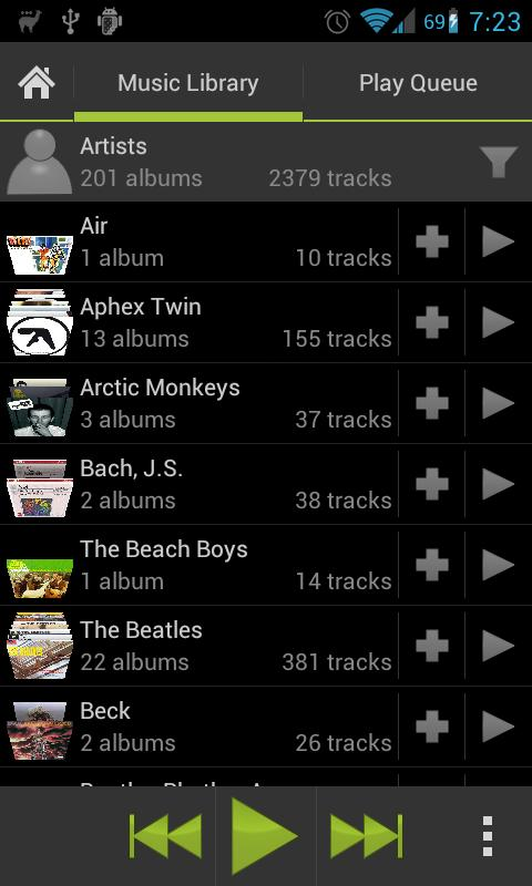 Lucid Music Player- screenshot