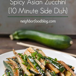 Spicy Asian Zucchini (5 Minute Side Dish).