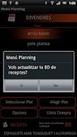 Screenshot of Menú Planning (Català)