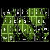 Green Splatter Keyboard Skin
