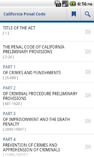 California Penal Code- screenshot thumbnail