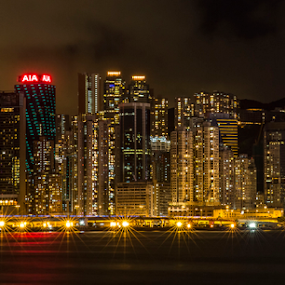 by Happy Sugianto - Buildings & Architecture Office Buildings & Hotels ( lights, canon, hong kong, cityscape, china )