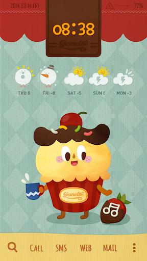 Cupcake Buzz Launcher Theme